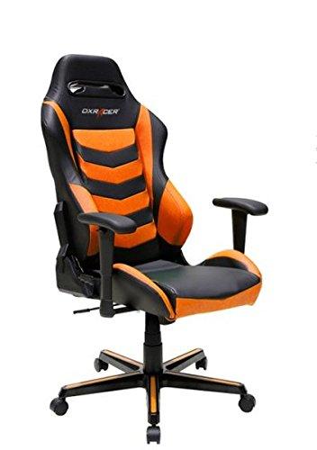 DXRacer Gaming Stuhl, OH/DH166/NO, D-Serie, schwarz-orange, das Original von DX Racer