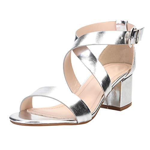WINJIN Sandales Compensees Femme Sandales Talons Vintage Chaussures Paillettes Sandales Plateforme Salomé Talons Haut Chaussures Grande Taille Boho Sandales Bout Ouvert Femme