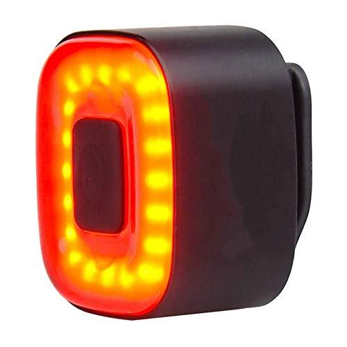 NCRD Bike Light. USB Luce ricaricabile della coda della bicicletta. Freno del sensore intelligente, posteriore rosso ad alta intensità GUIDATO Gli accessori si adattano a qualsiasi bicicletta stradale