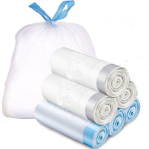 NewSeed ゴミ袋 15L 紐付き ひも付きゴミ袋 ごみ袋 取っ手付き 6ロール/90枚セット 縦50cm*横45 とって付き 収納袋 生ごみ袋 業務用 家庭用 キッチンバッグ