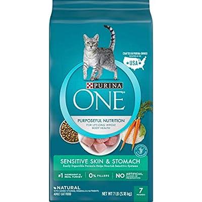 Purina ONE Sensitive Stomach, Sensitive Skin, Natural Dry Cat Food, Sensitive Skin & Stomach Formula - 7 lb. Bag