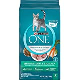 Purina ONE Natural Dry Cat Food, Sensitive Skin & Stomach Formula - 7 lb. Bag