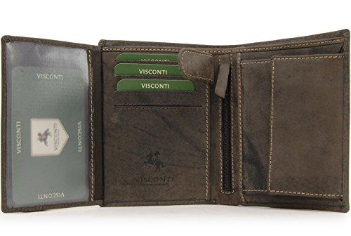 Visconti Heren Portemonnee - Hunter Leer - Organiser - Geschenk doos - 709 - Rifle - Olie Bruin - RFID