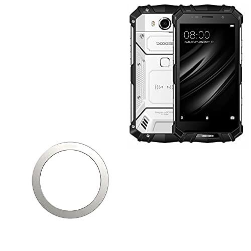 Smart Gadget para Doogee S60 Lite (Smart Gadget da BoxWave) – Anel MagnetoSafe, adiciona função magnética de liga adesiva para Doogee S60 Lite – Prata metálica