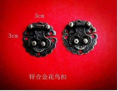 A surprise price is realized 30mm Bird Lock Antique Decorative Wooden Jewel Detroit Mall Jewelry Dedicated