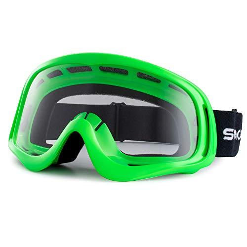 Snowledge Motorradbrille Herren Motorrad Windichte Brille MX Sport Sonnenbrille UV400 Schutzbrille Winddicht Staubdicht Kratzfest