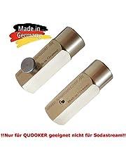Nieuwe Water Group Adapter voor het overvullen van CO2 gas uit grote CO2-flessen in de 425g cilinder geschikt voor quookers. Bespaar tot € 500 per jaar! Made in Germany. !