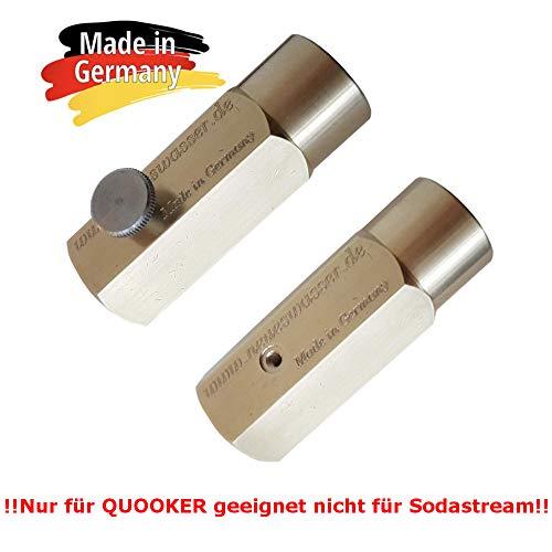 Neues Wasser Group Adapter zum Umfüllen von CO2 Gas aus grossen CO2 Flaschen in die 425g Zylinder geeignet für Quooker. Sparen Sie bis zu 500€ pro Jahr! Made in Germany!!!