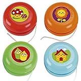 Lote de 25 Juguetes Económicos Infantiles Decorativos'Yo-Yo Multicolores'. Juegos y Entretenimiento. Relleno de Piñatas. Regalos Originales para Reyes, Navidad y Cumpleaños.