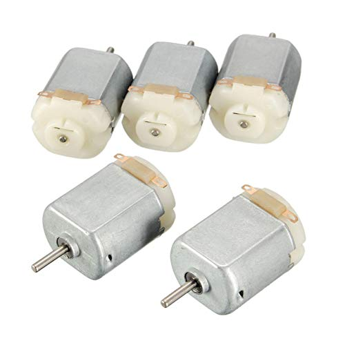 Ballylelly 5pcs DC 3v Mini Motor para Arduino DIY Smart Car Accesorios para automóviles