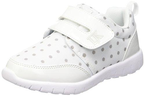Lumberjack Mosh, chaussures basses mixte enfant - Blanc Cassé (M0177 White/Lt Grey), 25 EU