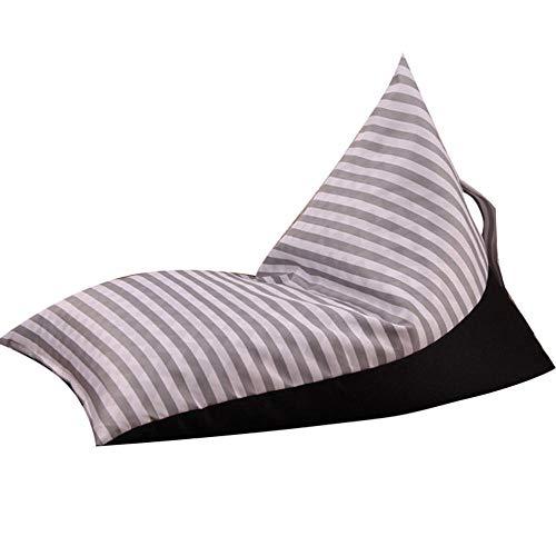 Gifftiy zitzak voor volwassenen, opbergstoel, voor dieren, pluche, met zitbank, met grote zak met strepen C1