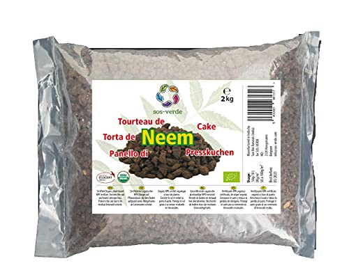SOS-VERDE Torta de Neem - 2Kg - Un Producto 100% orgánico para Alimentar y Proteger Las Plantas
