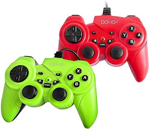 DOYO 2PCS USB Game Controller gaming joystick met pad dubbele turbo vibratie met 5.9ft USB-Kabel vuurknoppen voor Nintentdo Switch/PC/PS3/TV BOX/Raspberry Pi