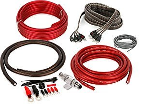 Belva 4 Gauge 4 Channel Complete Copper-Clad Amplifier Wiring Kit [RED] with 4-Channel RCA Interconnects [BAK44]