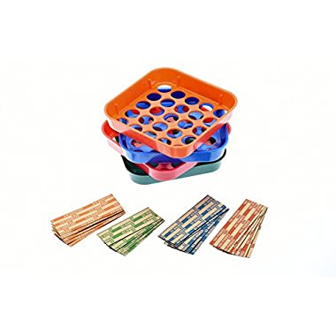 Nadex Quick Sort Coin Organizing Trays | Color Coded Sorting Trays for Pennies, Nickels, Dimes, and Quarters - 20 Coin Wrappers Included
