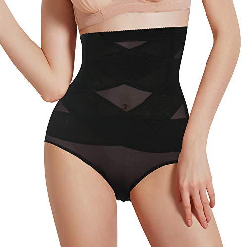 Lenceria Moldeadora Mujer Fajas Reductoras adelgazantes Mujer Body Shaper Shorts Braga Faja Postparto Shapewear Braguitas Moldeadoras para Mujer Body Moldeador Faja Pantalon (Negro, Large)