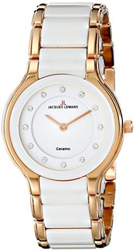 Jacques Lemans Damen-Armbanduhr XS Dublin Analog Quarz Keramik 1-1582G