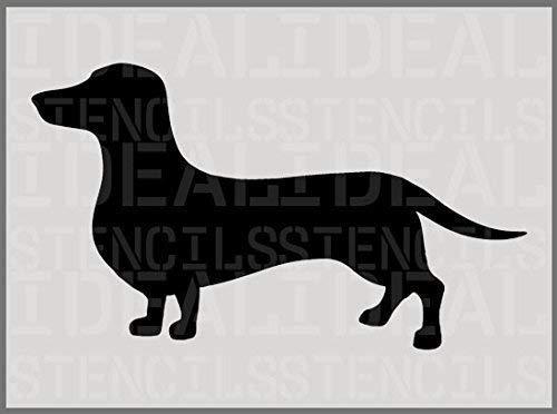 Ideal Stencils Dachshund Schablone, Hund Silhouette Schablone, Heim Dekor Kunst Malerei - A5(XS) 10.5 x 18CM /4.1 x 7