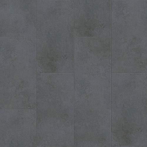 Klick-Vinyl Fliesenoptik anthrazit | Klick-Vinylboden dunkelgrau Senso 20 Lock