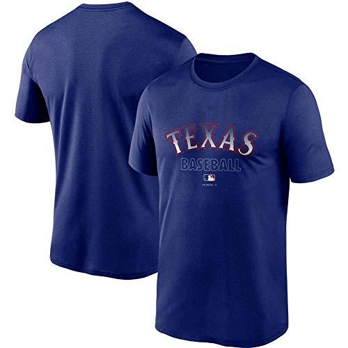 JMING Rangers Uniforme De Béisbol para Hombre, Camiseta para Fanáticos Uniforme De Entrenamiento De Béisbol De élite Chaqueta De Béisbol Retro Jersey De Manga Corta con Botones (A5,XXXL)