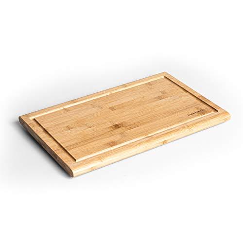 Barbecook Tagliere in bambù sostenibile da tagliare, con pratico vassoio di raccolta, 43 cm di lunghezza x 28 cm di larghezza x 2 cm di altezza