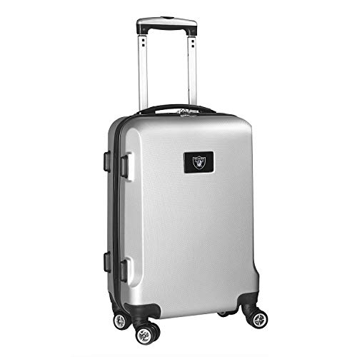 Why Choose Denco NFL Los Angeles Raiders Carry-On Hardcase Luggage Spinner, Silver