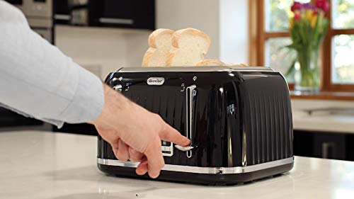 Breville VTT476 Impressions 4-Slice Toaster with High-Lift and Wide Slots, Black