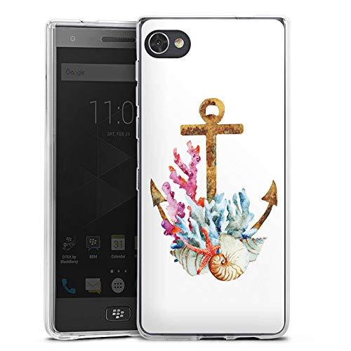 DeinDesign Silikon Hülle kompatibel mit BlackBerry Motion Hülle transparent Handyhülle Anker maritim Muschel