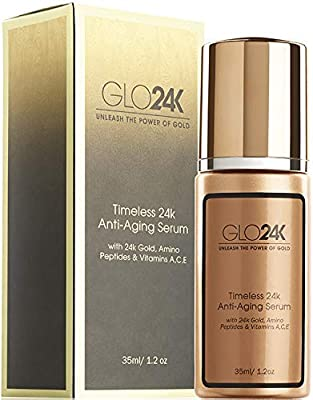 GLO24K 24k Gold Anti-Aging Serum with Vitamins C and E by Glo24k