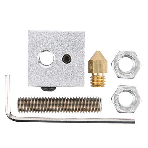 3D Printer Accessories Durability Aluminum Heating Block 0.4mm Stable for Diy Enthusiasts