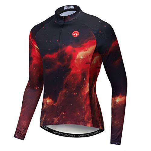 Weimostar Maillot de ciclismo de montaña para hombre, Hombre, color 8232 rojo...