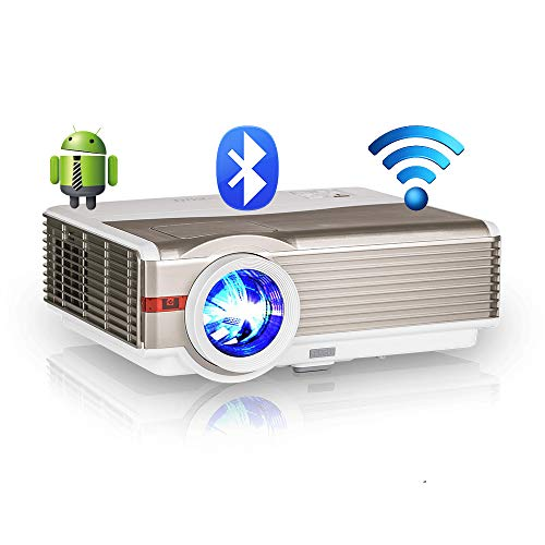 EUG LCD Bluetooth HDMI Projector 6200 Lux High Brightness Wireless Home Cinema Theater Video Projectors Support Full HD 1080P Airplay WiFi, Compatible with USB VGA Blu ray DVD PC PS4 TV Stick