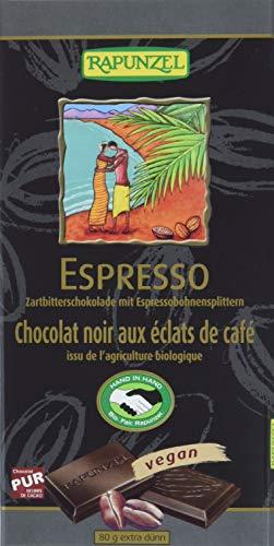 Rapunzel Zartbitterschokolade mit Espresso-Splittern 55% HI, 6er Pack (6 x 80 g) - Bio