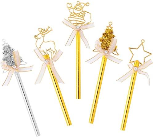 dh-15 5 Piezas de decoracin para Tarta de Navidad, Estrella de Navidad, rbol de Navidad, Reno, selecciones para Cupcakes, Decoraciones para Tartas de Navidad para Navidad