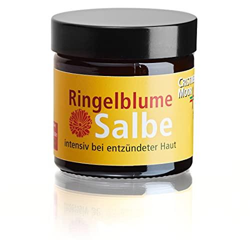 CristinenMoor Ringelblume Salbe, naturkosmetisch, intensiv bei trockener, entzündeter Haut (50 ml)