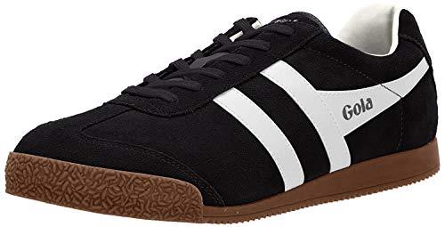 Gola Herren Harrier Suede Sneaker, Schwarz (Black/Grey), 46 EU