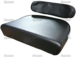 Massey Ferguson Seat Cushion & Backrest TE20,TEA20,TO20,TO30,TO35, MF: F40, MH50, MF50 w/ Deluxe Seat, MF35, 50, 65, 85, 88, 98, 135, 150, 165, 230, 235, 240, 245, 250, 265, 283, 333, 444, 555, Ind. 20, 20C, 20D