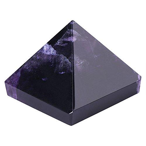 Pirámide de amatista,Pirámide de cristal púrpura natural con buena fortuna,pisapapeles de cristal,artesanía de la pirámide del antiguo Egipto para decoración/colección,regalo para familia/amigo