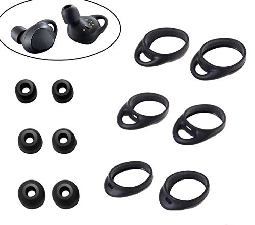 Samsung Gear IconX (2018 Edition) Replacement Eartips Earhook Adapters Wingtips 12pcs L/M/S for Samsung Galaxy Buds Wireless Headphone