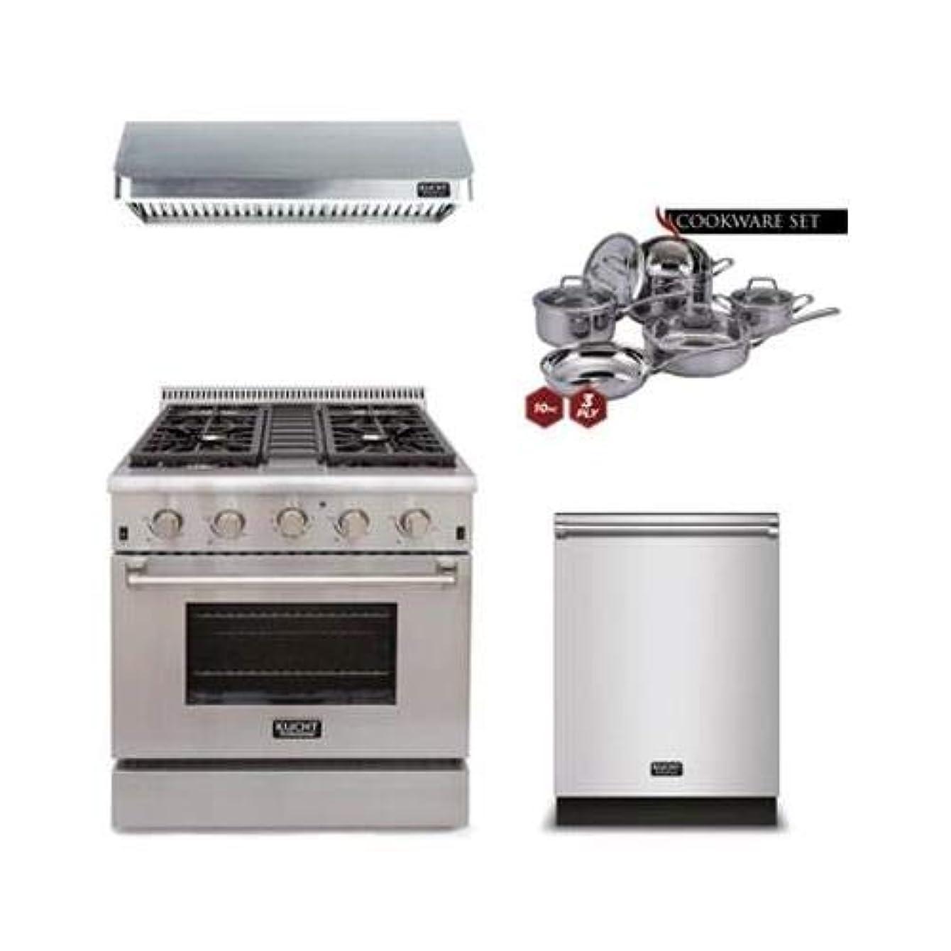 Kucht 4-Piece Kitchen Package with KRG3080U 30