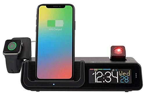 La Crosse Technology Wattz 3-in-1 Wecker mit kabellosem Handy-Ladegerät, 300176