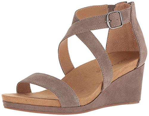 Lucky Brand Women's Kenadee Wedge Sandal, Brindle, 8.5 M US