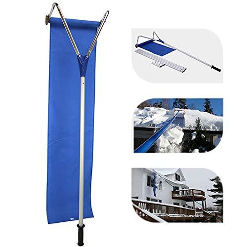 HXSD Snow Shovel Tool, Roof Rake Snow Removal Aluminum Telescopic Rod +...