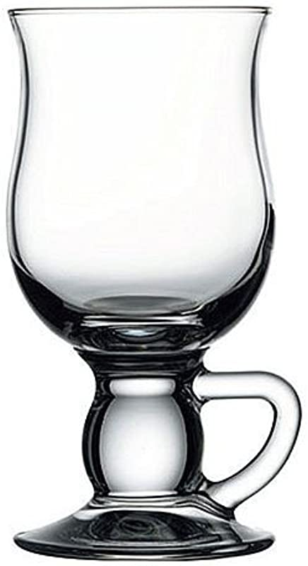 Circleware Sommelier Cappuccino Glass Mugs Set Of 4 8 Oz Clear