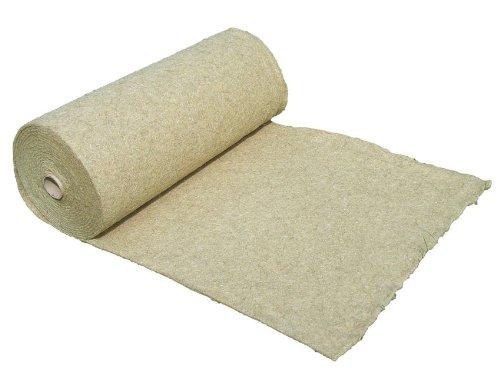 Tapis de protection contre les mauvaises herbes en fibre de chanvre, vendu au mètre (EUR 9,75 /m²), 1200g/m², 0,4 x 15 m, env. 1 cm d'épaisseur, tapis de protection des plantes, tapis de protection pour l'hiver, tapis de revêtement à base de compost, 100 % biodégradable, qualité des aliments