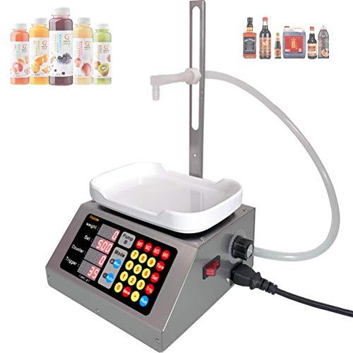 HJJH Digitale Flüssiger Füllmaschine, LED Flüssigfüllstoff Maschine Große Kapazität Automatische Flaschenfüller, 2-3000Ml Flüssigfüllstoff Mach Für Getränke, Alkohol, Essig, Milch, Perfum
