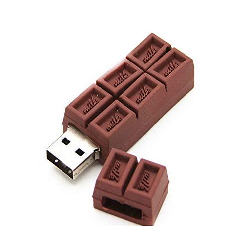 Fliyeong - Chiavetta USB a Forma di Cioccolato Pendrive ad Alta velocità, 4 GB