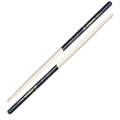 Zildjian Z5AD Wood Tip Bacchette, Black Dip, 5A