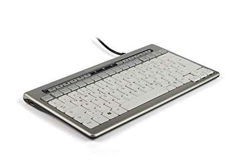 Bakker Elkhuizen S-board 840 toetsenbord Ergonomisch Compact USB Hub Zilver Ref BNES840DUK 128963